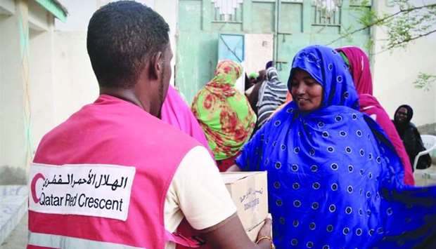 Dates, beds, mattresses, blankets and clothes were received by more than 16,000 needy families in th