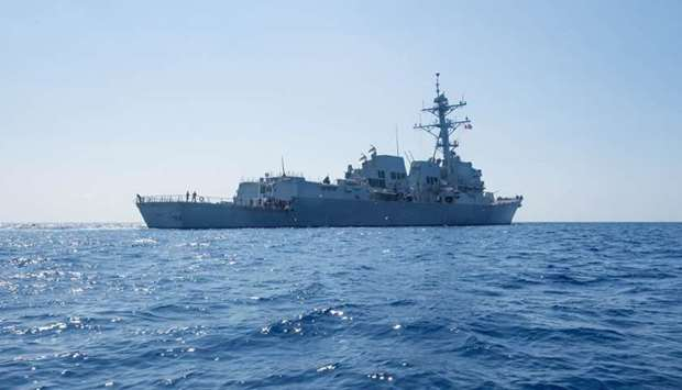 US warship  in South China Sea
