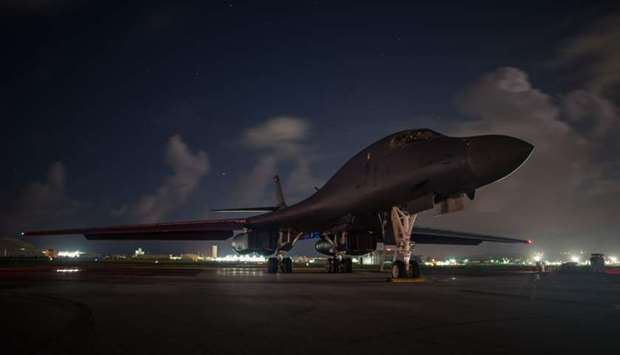 USA  bombers fly over Korean Peninsula after North Korea missile test