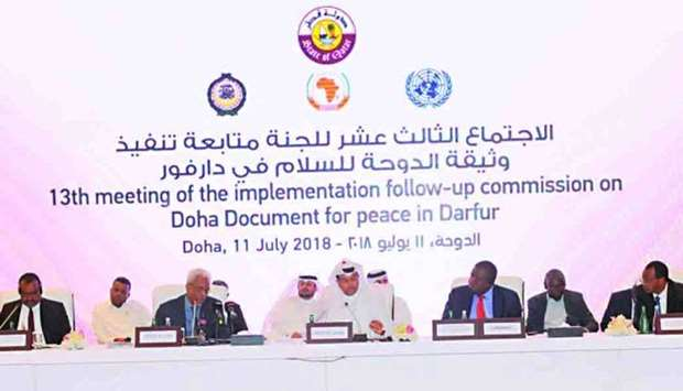 Committee for peace in Darfur meets in Doha