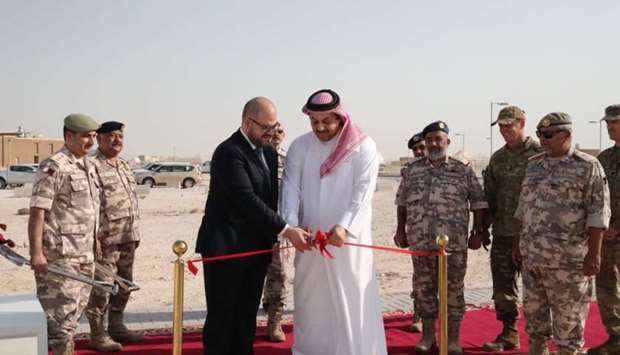 The groundbreaking ceremony for the expansion of Al Udeid Air Base