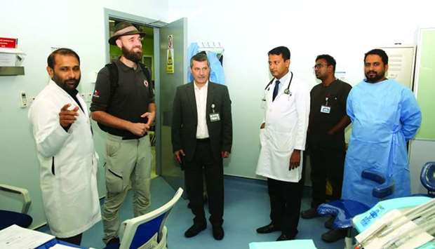 Thor Pedersen (2nd Left) during his tour of the health centre
