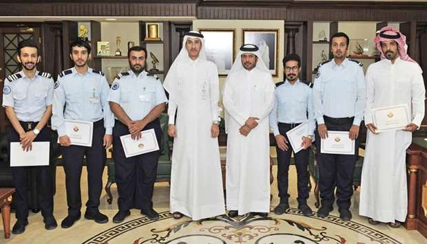 The General Authority of Customs officials with some of the honoured inspectors.