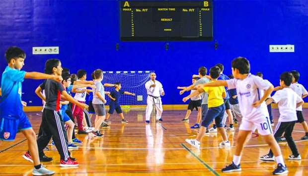 An activity at the Aspire Zone Foundation summer camp