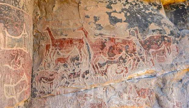 The paintings left by shepherds almost three millennia ago on the walls of the rocks that flank the