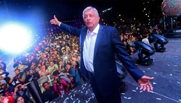 Newly elected Mexico's President Andres Manuel Lopez Obrador