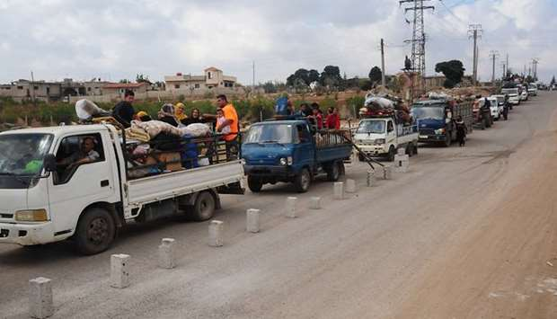 Displaced Syrians returning to their villages in the province of Daraa