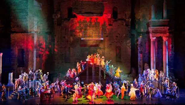 A pre-dress rehearsal at the Choregies d'Orange festival dedicated to opera