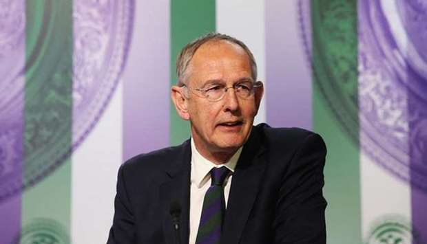 Richard Lewis, Chief Executive of the All England Lawn Tennis Club