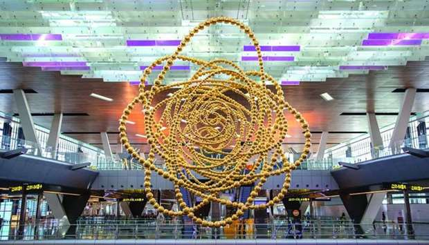 Cosmos, installed at HIA, is the latest addition to Qatar's extensive public art programme
