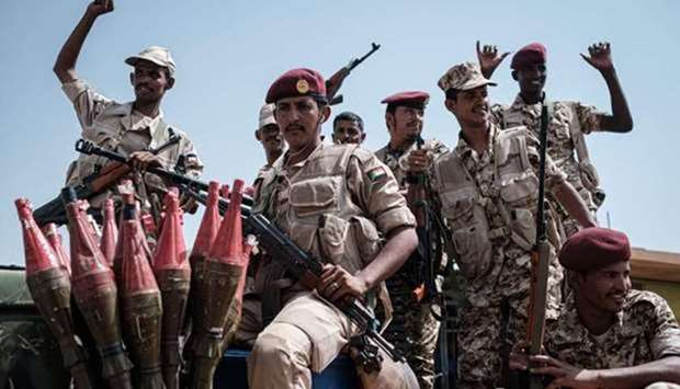 Members of Sudan's Rapid Support Forces (RSF) paramilitaries