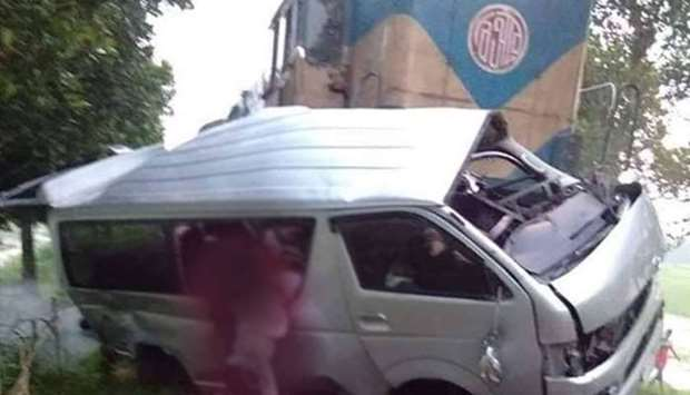 Nine killed after train hits wedding party minibus in Bangladesh