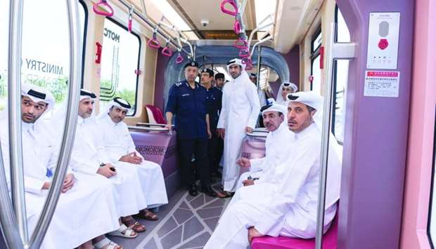 HE the Prime Minister and Minister of Interior Sheikh Abdullah bin Nasser bin Khalifa al-Thani, HE t