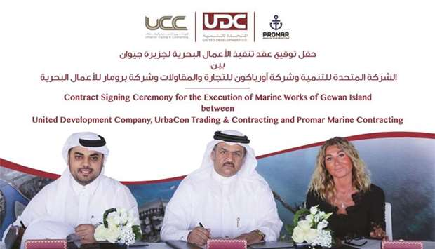UDC president and CEO Ibrahim Jassim al-Othman signed the agreements with UrbaCon Trading & Contract
