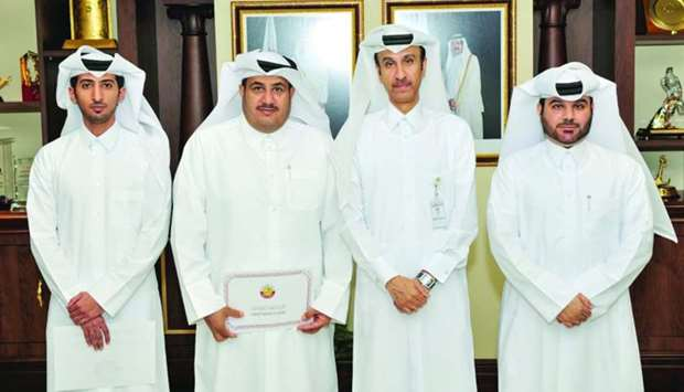 HE the Chairman of the General Authority of Customs Ahmed bin Abdullah al-Jamal with the honoured in