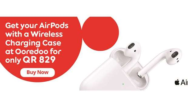 Apple AirPods with wireless charging case now available at Ooredoo