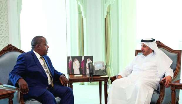 HE the Prime Minister and Minister of Interior Sheikh Abdullah bin Nasser bin Khalifa al-Thani met W