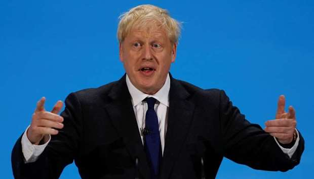 Boris Johnson, a leadership candidate for Britain's Conservative Party, speaks during a hustings eve