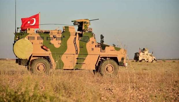 The military operation is taking place just across the border from Turkey's southeastern tip, File p