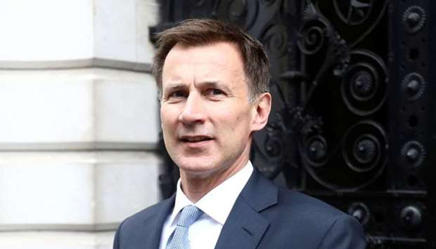 Britain's Foreign Secretary Jeremy Hunt