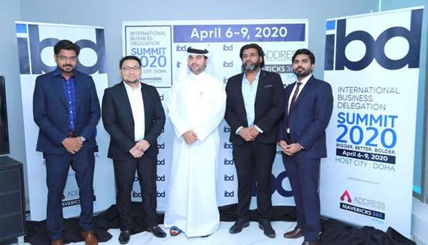 IBD Summit chairman Yousuf al-Jaber (centre) with other IBD officials, Shajardheen (director), Leona