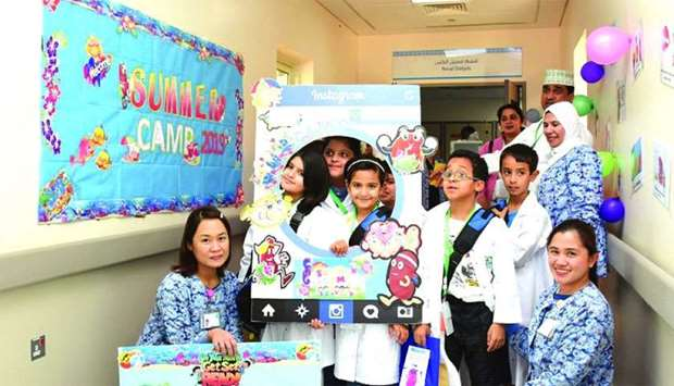 Hamad Summer Camp began with a full day at Al Wakra Hospital