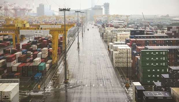Kao Ming Container Terminal at the Port of Kaohsiung in Taiwan.