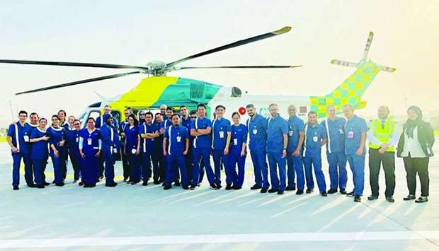 Young trauma patients are brought to Sidra Medicine by air or land ambulance.