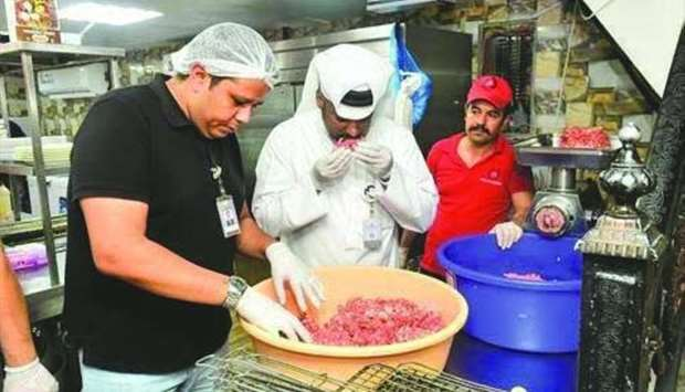 Food control measures in Doha Municipality