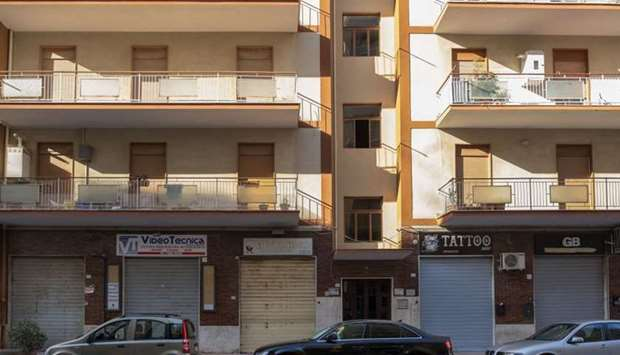 A general view shows on July 3, 2019 in Agrigento, the building where German captain of humanitarian