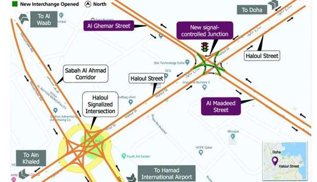 A map of the new signal controlled junction