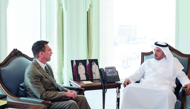 HE the Prime Minister and Minister of Interior Sheikh Abdullah bin Nasser bin Khalifa al-Thani on Th