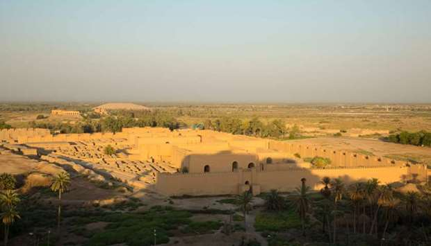 In this file photo taken on June 29, 2019, a general view of the ancient archaeological site of Baby