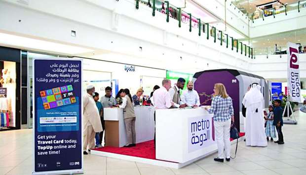 Qatar Rail is operating a booth at City Center Doha