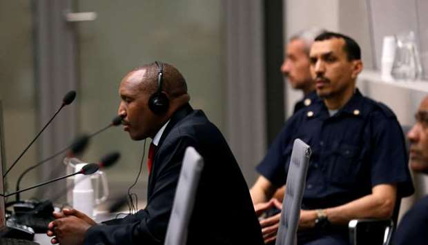 Bosco Ntaganda sits in the courtroom of the ICC (International Criminal Court)