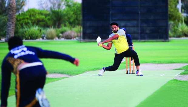 Action from the Doha Workers Cricket Cup 2019.