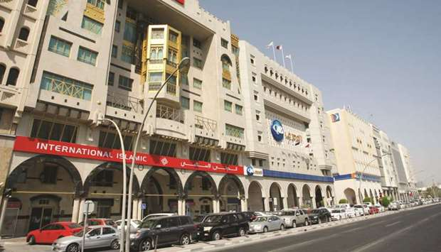 "A view of the Bank Street in Doha. ""In Qatar, it is estimated that about one-quarter of all the fina"