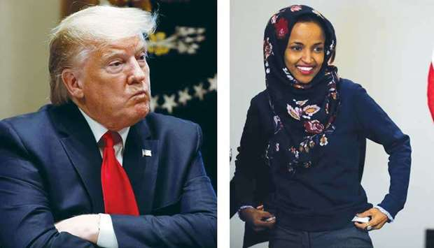 President Trump and Ilhan Omar