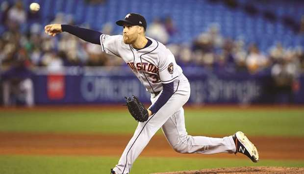 Collin McHugh of the Houston Astros. (TNS)