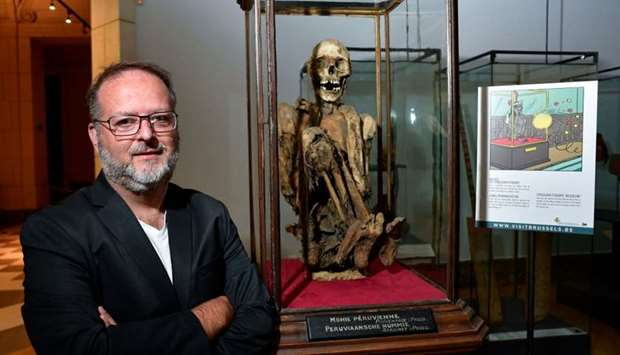 Serge Lemaitre, archaeologist and curator of the Americas collections at the Royal Museums of Art an