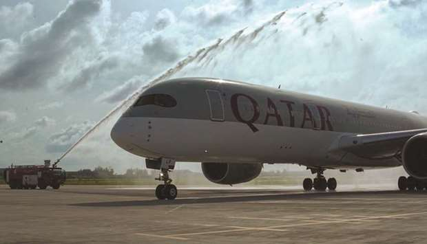 water cannon salute.