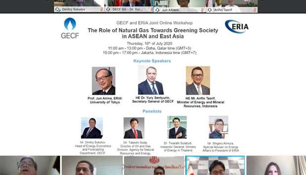 GECF organises joint online workshop with ERIA on natural gas role in Asean, East Asia