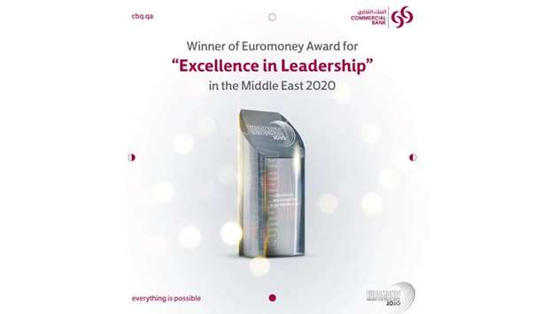 """Commercial Bank bags """"Excellence in Leadership in the Middle East"""" Award 2020 from Euromoney"""