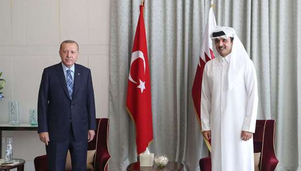 Turkish President arrives in Doha