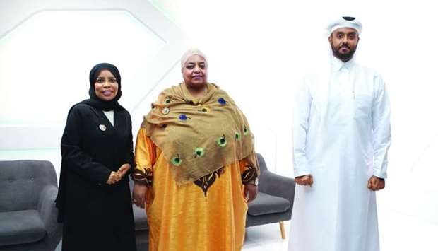 Tanzanian ambassador to Qatar Fatma Mohamed Rajab (centre) is joined by KON founder & chairman Moham
