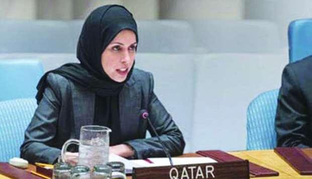 HE the Permanent Representative of Qatar to the United Nations Sheikha Alya Ahmed bin Saif al-Thani