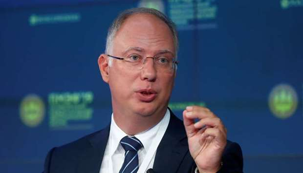 Chief Executive of the Russian Direct Investment Fund, Kirill Dmitriev, attends a session of the St.