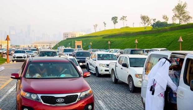 A large number of people visited Katara Friday.