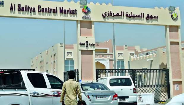 Entry to Al Sailiya Central Market is blocked until the parking slots become vacant again.