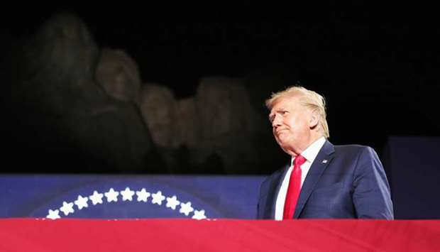 US President Donald Trump attends South Dakota's US Independence Day Mount Rushmore fireworks celebr